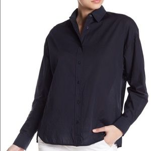 Vince Easy Tail Front Shirt Black